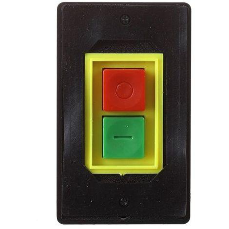 Interruptor QCS1 empotrado con boton de on/off Negro