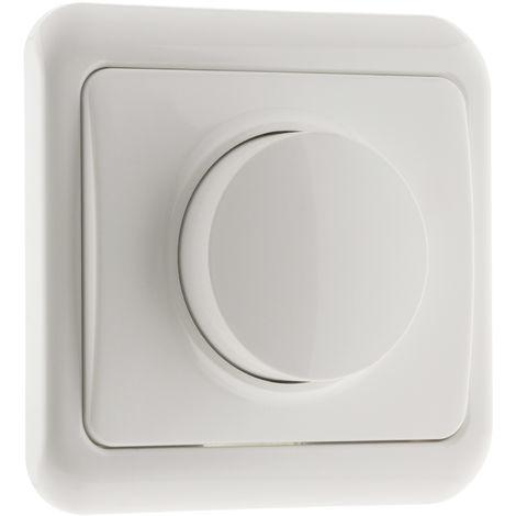 Interruptor regulador rotativo empotrable blanco - Antaria