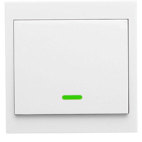 Interruptor remoto inalambrico inteligente, tipo 86, 433 RF, 1 canales