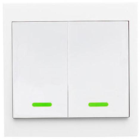 Interruptor remoto inalambrico inteligente, tipo 86, 433 RF, 2 canales