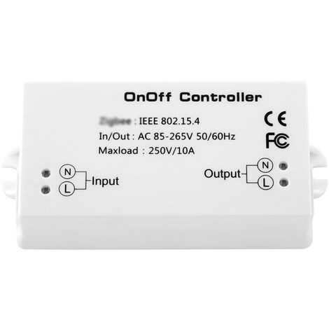 Interruptor S-mart del controlador de encendido / apagado Zigbee, modulo de hogar inteligente de control remoto de la aplicacion