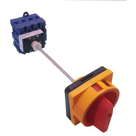 Interruptor seccionador tretrapolar (4P) 25A fondo armario