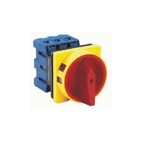 Interruptor seccionador trifásico 25A Mando amarillo-rojo