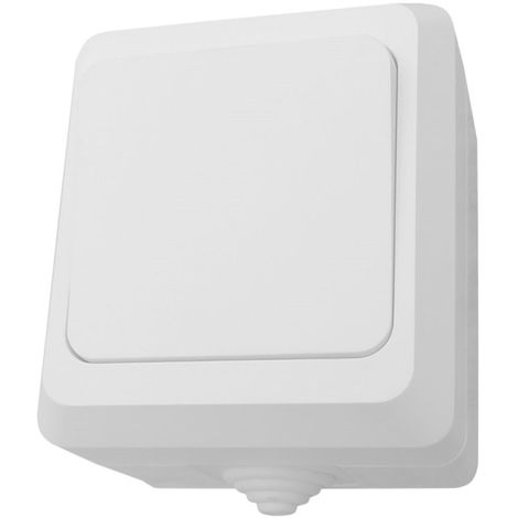 Interruptor Simple Superficie Estanco de Exterior 7hSevenOn Elec