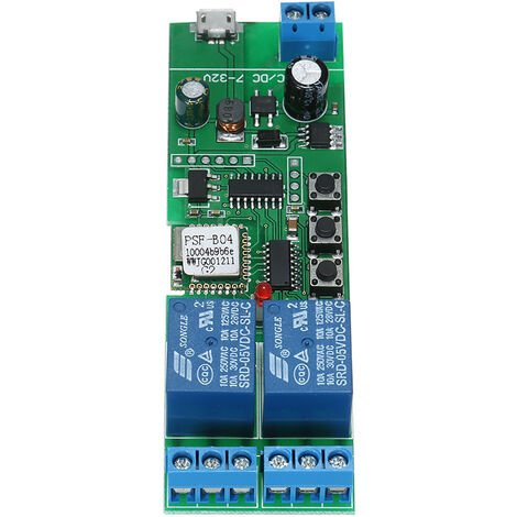 Interruptor Smart Wifi, Modulo universal, 2 canales, USB, DC5V / 7-32V