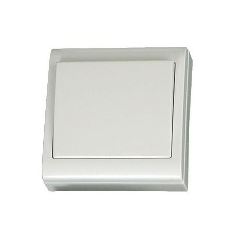 Interruptor superficie Blanco 80x80mm 10A 250V