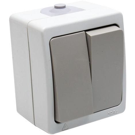 Interruptor superficie doble estanco ip54