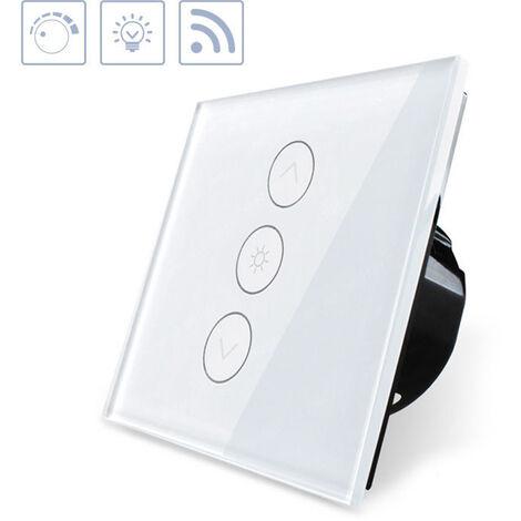 Interruptor táctil con regulador Dimmer WiFI-Voz, blanco