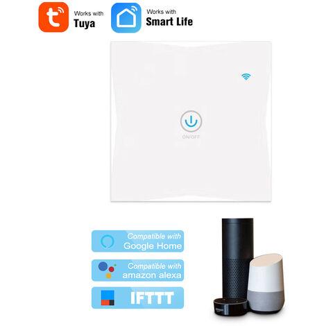 Interruptor tactil inteligente de pared Wifi, 1 cuadrilla, aplicacion Tuya / control tactil