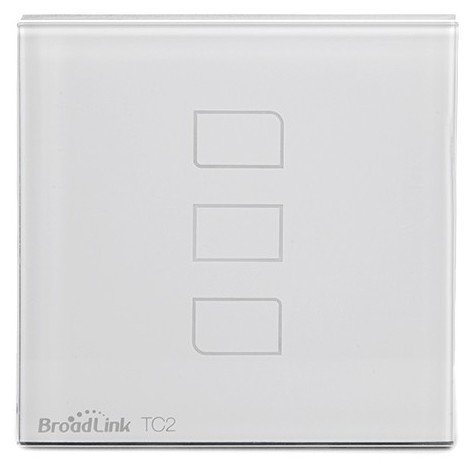 Interruptor Táctil Pared Inteligente Broadlink Basic Triple (BL-TC2-3-EU)