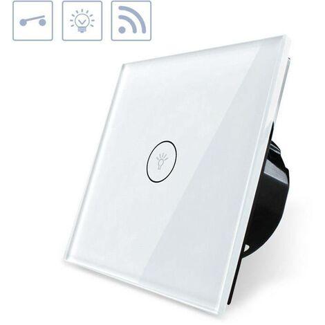 Interruptor táctil WiFI-Voz, blanco