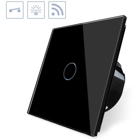 Interruptor táctil WiFI-Voz, negro