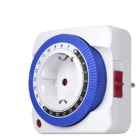 Interruptor temporizador de 24 horas, controlador de tiempo de toma de tiempo mecanico