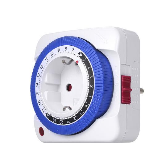 Interruptor temporizador de 24 horas, controlador de tiempo de toma de tiempo mecanico(no se puede enviar a Baleares)