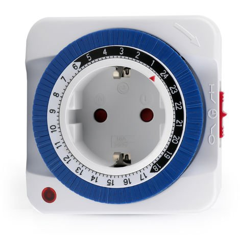Interruptor temporizador de salida mecanica electrica las 24 horas
