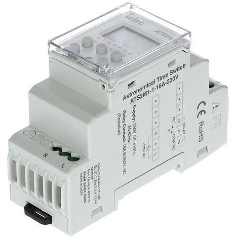 Interruptor Temporizador Digital Horario Astronómico 1NAC 16A 230V-CE Gris | IluminaShop