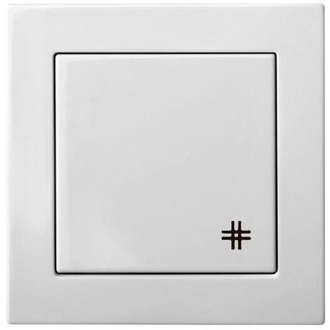 Interruptor transversal de montaje empotrado, 1 grupo, sin marco