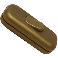 Interruptor unipolar de paso dorado 2A 250V 60x26x15mm. (H038147)