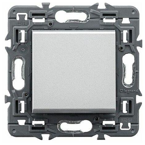 Interruptor unipolar Legrand 741342 serie Valena Next color aluminio