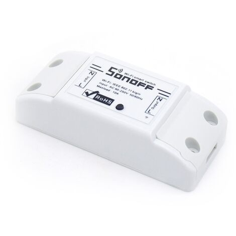 Interruptor Wi-Fi 2.4GHz 90V~250V AC Sonoff Basic