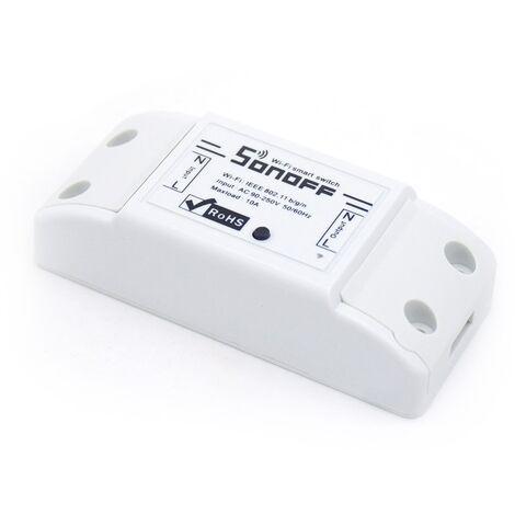 "main image of ""Interruptor Wi-Fi 2.4GHz 90V~250V AC Sonoff Basic - Blanco"""