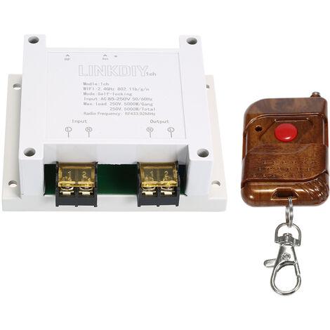Interruptor Wifi de 433Mhz, Modulo de Interruptor de Control Remoto Inteligente, 1CH, AC85-250V