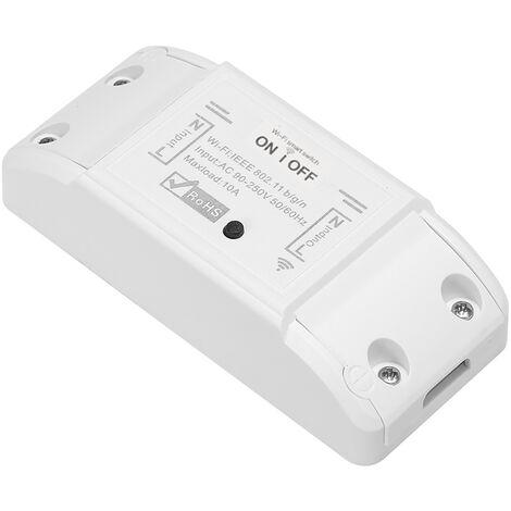 Interruptor Wifi inteligente, para Amazon de Alexa y Google Inicio de temporizador, 10A / 2200W interruptor remoto inalambrico