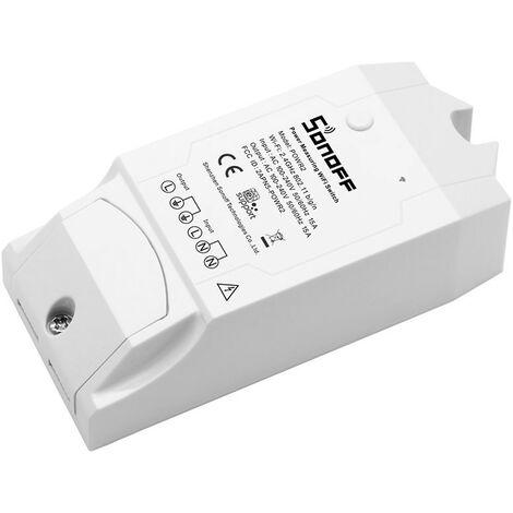 Interruptor Wifi Remoto con control de consumo 230V 15A Sonoff Pow R2 IFTTT Google home y Alexa