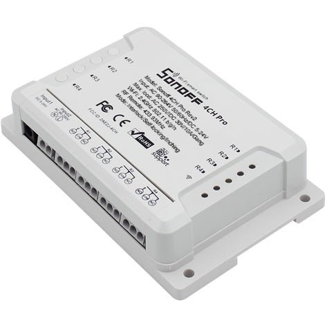 Interruptor Wifi Rf 433 Mhz, 4 Canales