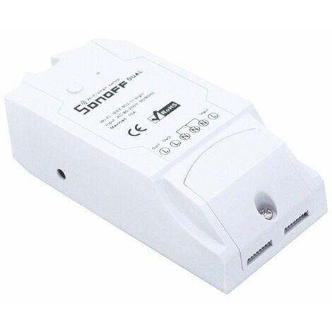Interruptor Wifi Sonoff Dual-r2 2 Salidas IFTTT compatible Alexa y Google 230V 15A
