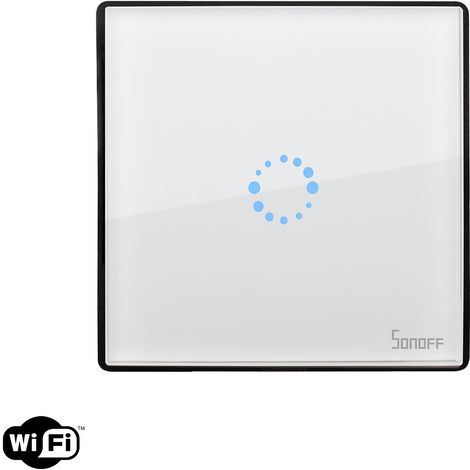 Interruptor WiFi Táctil Simple SONOFF Touch EU Blanco