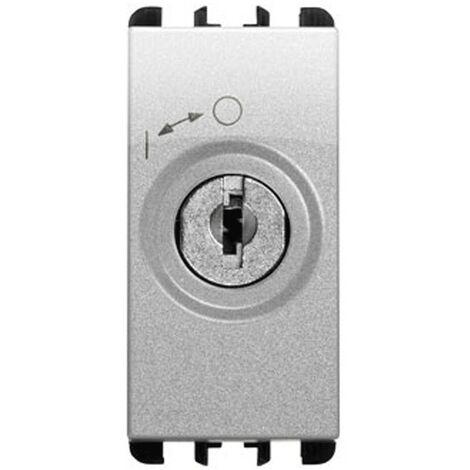 Interruttore a chiave Urmet Simon Nea 2P con chiavi alluminio 10142AL