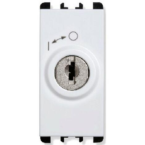 Interruttore a chiave Urmet Simon Nea 2P con chiavi bianco 10142.B