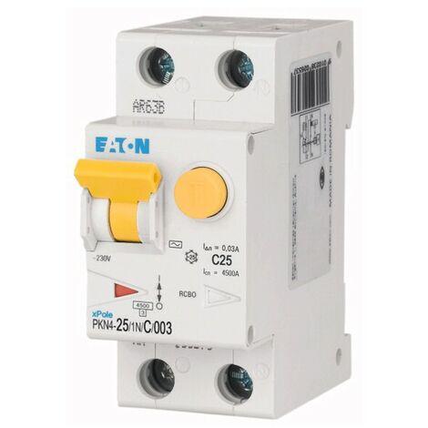 "main image of ""Interruttore Differenziale Magnetotermico Eaton 25A 1P+N 30MA tipo AC 4,5K 237131"""
