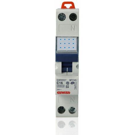 """main image of """"Interruttore magnetotermico compatto (MTC45), 1P+N, 16 A - GW90027"""""""