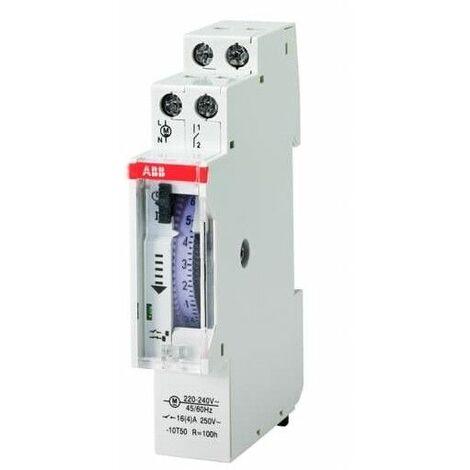 Interuptor Horario modular ABB AT1e-R con reserva 1Mod