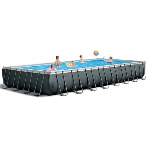 Intex 26378 ex 26376 XL Ultra XTR Frame Above Ground Pool Rectangular with Volley Net 975x488x132