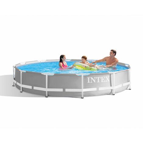 Intex 26756 ex 26762 Prism Frame Round Above Ground Pool 610x132cm