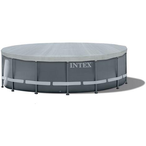 Intex 28041 universelle Abdeckplane Deluxe, für runde Aufstellpools, 549 cm, groß