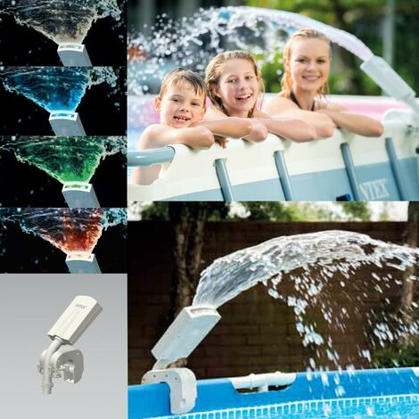 Intex 28089 LED Wasserfontäne Springbrunnen Multi-Color Pool Sprayer Wasserfall