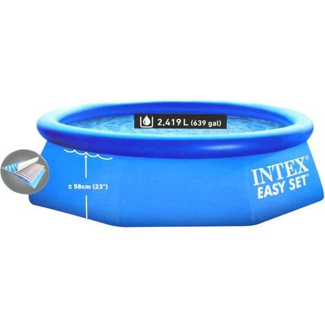 Intex 28112GN Schwimmbecken mit Kartuschenfilteranlage, 244 x 76 cm, blau