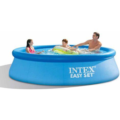 Intex 28122 piscina hinchable elevada desmontable Easy Set redonda 305x76