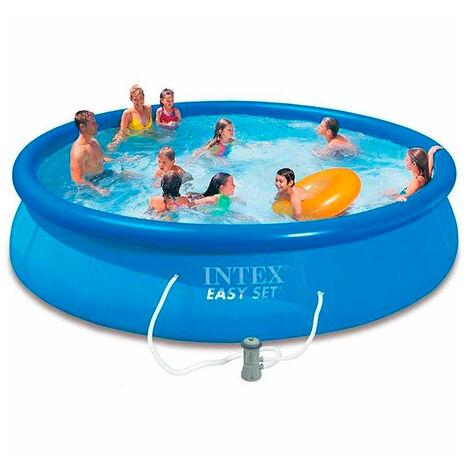Intex 28158 Aufstellpool Easy-Pool Set Quick up aufblasbar rund 457x84