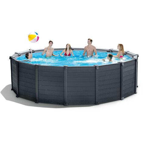 Intex 28384 Graphite Pane 28382 Frame Pool 478 x 124