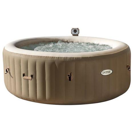 Intex 28404 Pure Spa Bubble Therapy 196X71Cm 4 Posti Con Pompa, Riscaldatore, Sistema Purificazione Acqua,-