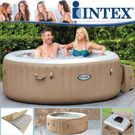 Intex 28404 Whirlpool Pure SPA Bubble Massage aufblasbarer rundes Becken 196x71
