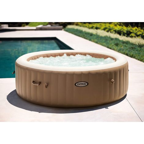 Intex 28454 Whirlpool Pure SPA Octagon Bubble, Jet und Salzwassersystem Becken 201x71