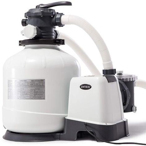Intex 28648 universelle Sandfilteranlage Krystal Clear Sandfilterpumpe Aufstellpools 10500 l/h