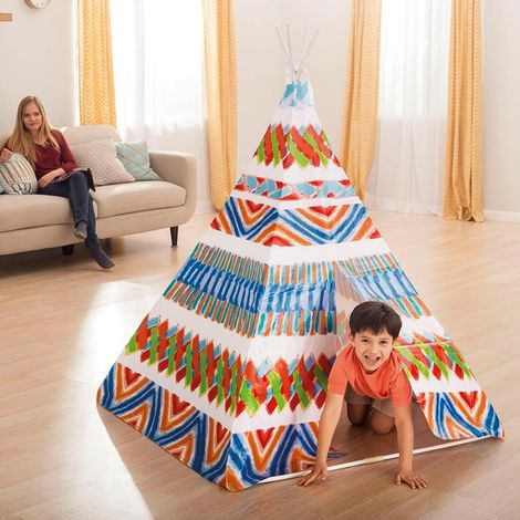 Intex 48629 children's playhouse teepee shaped indian tent