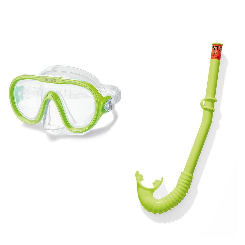 Kit masque et tuba Adventurer 8 ans et + - Jaune - Intex